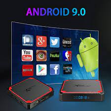 Set Top Box Kotak Tv Android 4K USB Kotak Tv Android 9.0 Android Kotak Tv  Pintar Bluetooth Wifi 2.4G & 5 Ram 2G 16G Tongkat TV Api|Set-top Box