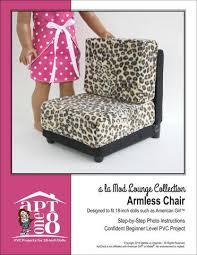 patterns furniture. A La Mod Lounge Collection: Armless Chair PVC Pattern For 18\ Patterns Furniture