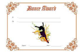 Dance Award Certificate Ballroom Dance Certificate Template Free 1 One Package