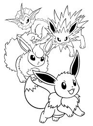 Pokemon Paradijs Kleurplaat Vaporeon Jolteon Flareon Eevee