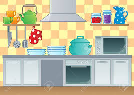 Yellow Kitchen Theme Kitchen Theme Image 1 Vector Illustration Royalty Free Cliparts