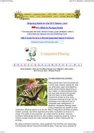 Flower Companion Planting Chart Companion Planting Golden Harvest