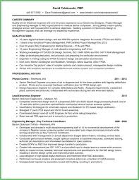 Electrical Engineering Resume Examples Magnificent Best Of Great Electrical Engineer Project Manager Resume Example