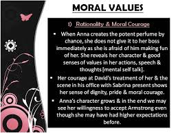 short essay moral values