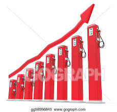 Stock Illustration Rise In Gas Price Petrol Pumps Chart