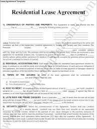 Free Real Estate Lease Agreement Template Printable Sample Rental ...