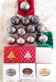 Annual Ornaments Lot Of 18 Wallace Silver Christmas Sleigh Bells Annual Ornaments