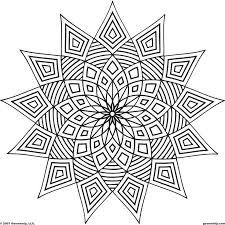 Geometric Patterns Coloring Pages For Kids Many Interesting Cliparts