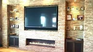 flat panel gas fireplace how to mount screen above instlling flt