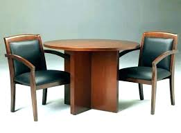 small round office table within conference legs south decor desk with lockable drawers and chair set