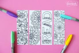 Bookmark Coloring Pages Summer Bookmark Coloring Pages Favecrafts Com