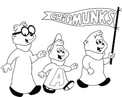 Chipmunks Vind En Print Bliksemsnel Een Kleurplaat Ukkonl