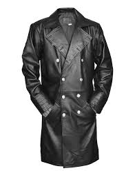 general major german military long leather coat