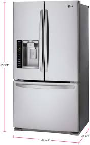 refrigerator 69 inches tall. lg lfx25974st - 36 inch french door refrigerator from 69 inches tall