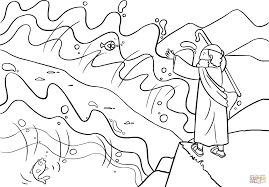 Moses Coloring Pages For Kids With Moses Coloring Pages Baby Boom Me