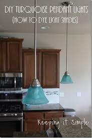 turquoise pendant lighting. Turquoise Pendants Light How To Dye Shades, Home Improvement, To, Kitchen Pendant Lighting