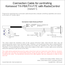 connection cable for kenwood th f6a th f7e