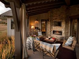 Outdoor patios with fireplace Backyard Decked Out Hgtvcom 20 Cozy Outdoor Fireplaces Hgtv