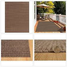 details about area rug patio floor carpet indoor outdoor mat checkmate taupe walnut 6ft x 8ft