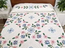 Spring Flowers Quilt -- splendid meticulously made Amish Quilts ... & Pastel Appliqué Spring Flower Quilt Photo 1 ... Adamdwight.com