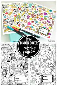 Binder Cover Page Binder Cover Coloring Pages