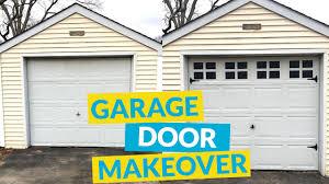 diy garage door makeover