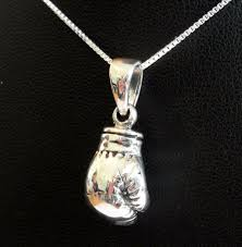 details about sterling silver 925 boxing glove pendant with silver 925 chain new