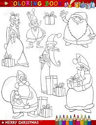 coloring book or page cartoon ilration of themes set with or papa noel