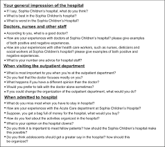 Doctors Interview Questions Questions Related To Preferences In The Interview Protocol