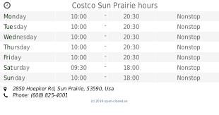 Costco Sun Prairie Costco Sun Prairie Hours 2019 Update