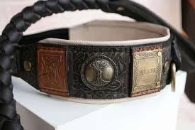 personalized leather dog collar by work sauri
