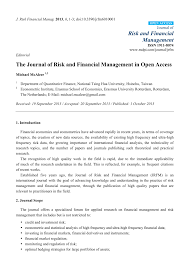Access Financial Management Pdf The Journal Of Risk And Financial Management In Open Access