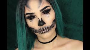 glam glitter skull makeup tutorial