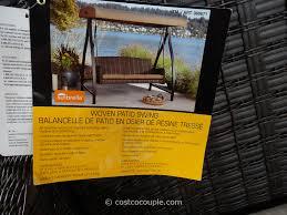 agio international fairview woven patio swing costco 1