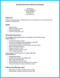 Gallery Of One Of Recommended Banking Resume Examples To Learn