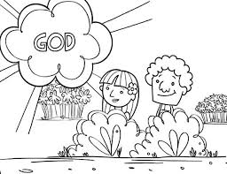Small Picture Adam and Eve Coloring Pages The First Creation Gianfredanet