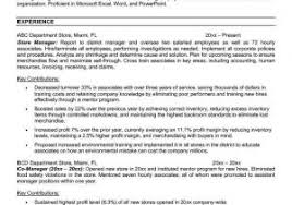 Retail Store Manager Resume Sample From Retail Resume Examples Best