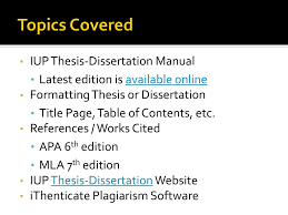 Formatting Your Thesisdissertation Ppt Download