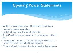 perfecting the essay college essays ppt video online  opening power statements