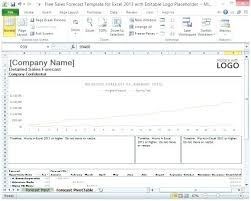 Sales Forecast Report Template Monthly Excel Sharkk