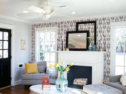 wallpaper accent walls wonderful bedroom style with gold chandelier and  damask ...