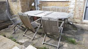 expandable furniture. Garden Wooden (teak) Furniture 5 Piece Set - Expandable Table, 3 Chairs And