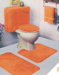 orange bathroom rug merry 5 piece set remarkable sets within bath design 3