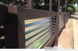 creating a modern wood metal retaining wall fence calledcreative basic how to build corrugated various 7