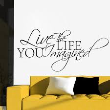 free shipping live the life you imagined quote saying wall sticker inspirational quotes home decor q0133 on live the life you imagined wall art with free shipping live the life you imagined quote saying wall sticker