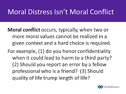 tough calls ethical decisions and moral distress for the  11 moral