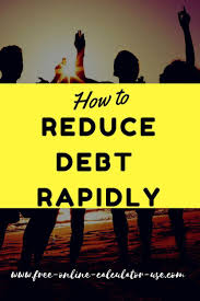 Online Debt Reduction Calculator Rapid Debt Reduction Calculator With Amazing Rollover Method How