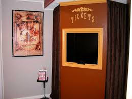 home theater ticket booth. main entrance to the theater home ticket booth