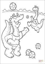 Small Picture Dragons are playing soccer coloring page Free Printable Coloring