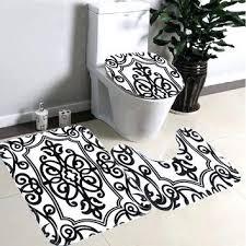 black and white bathroom rug white bathroom rugs bathroom non slip contour rug set black white
